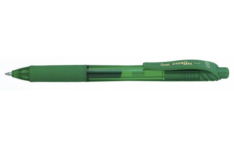 Image of   Rollerpen Pentel EnerGelX grøn 0,7mm BL107