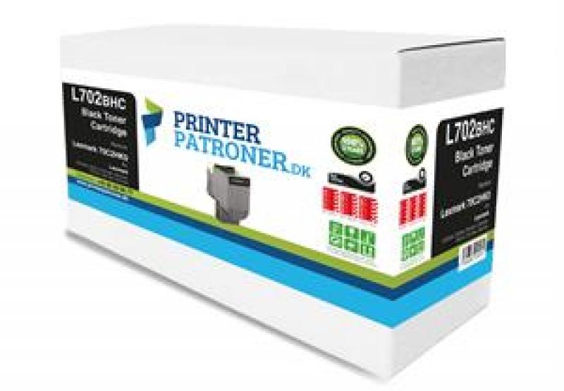 Lasertoner sort 70C2HK0 Lexmark Uoriginal