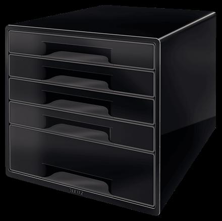 Skuffekabinet Leitz Desk Cube 5-skuffer sort