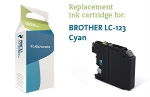 Image of   Blækpatron cyan LC123C Brother Uoriginal