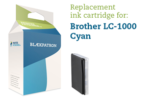 Image of   Blækpatron cyan LC1000/970C Brother Uoriginal