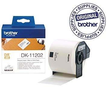 Image of   Label Brother hvid DK11202 62x100mm shipping 300stk/rul