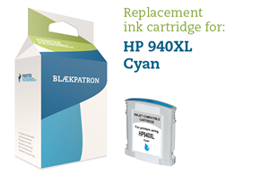 Image of   Blækpatron cyan No.940XL HP Uoriginal