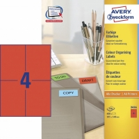 Farvede etiketter A4 ark